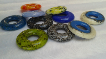 Third size Ring Beads - 35mm.