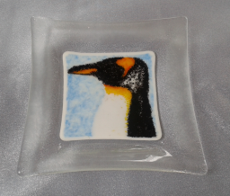 Penguin - Frit and powder on white